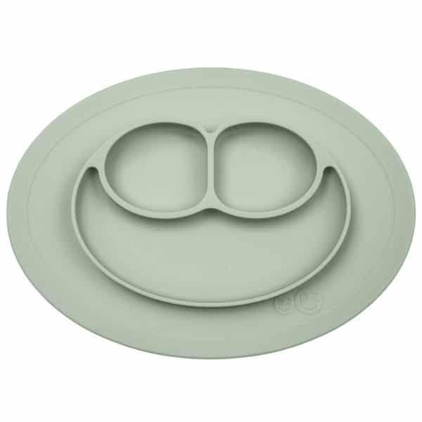 mini mat vert amande ezpz assiette antidérapante set de table silicone premier repas cadeau naissance bébé enfant