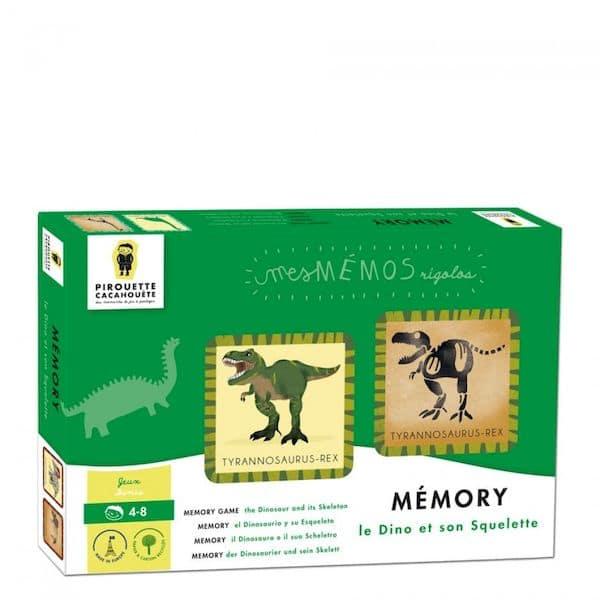 mémo memory dinosaure papier recyéclé fabriqué en France cadeau enfant
