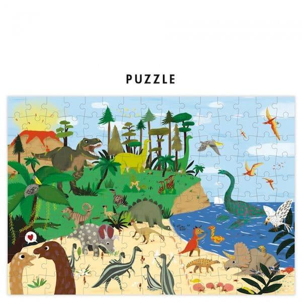 Jeu de puzzle Go back in time, retour aux dinosaures – Pirouette Cacahouète