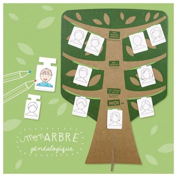 Kit loisir créatif - Mon Arbre généalogique - Pirouette Cacahouète idée cadeau creative