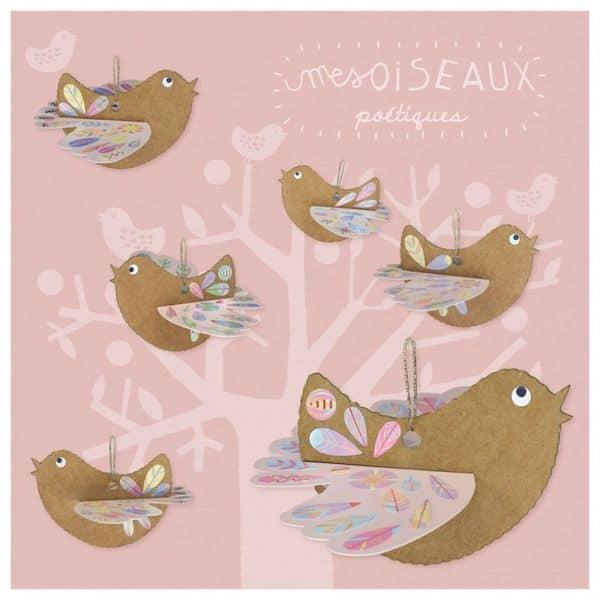 pirouette cacahouète kit loisir créatif oiseaux poétiques fabrication française papier recyclé fsc