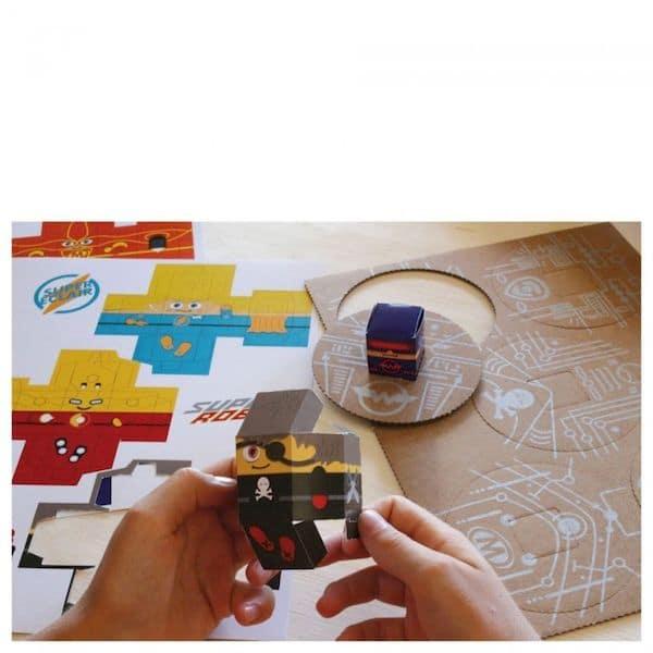 atelier créatif fabriqué en France mes super héros papier recyclé certifié FSC