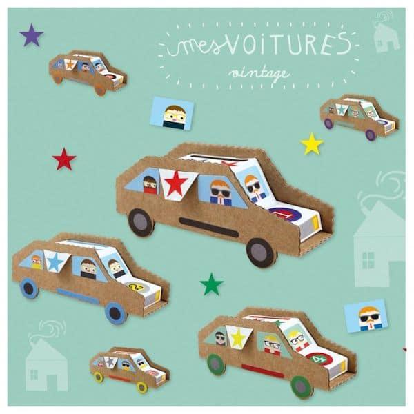 kit loisir créatif voitures vintage pirouette cacahouète fabriqué en France