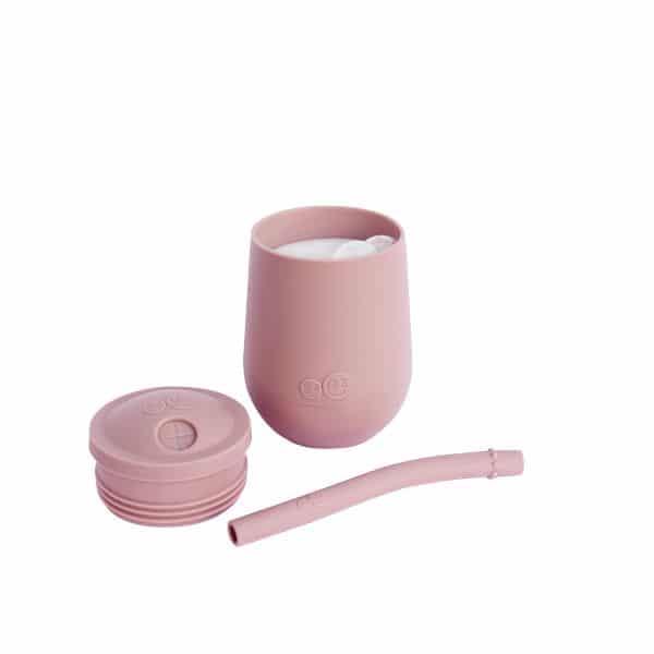 gobelet avec paille silicone apprentissage verre enfant cadeau de naissance ezpz