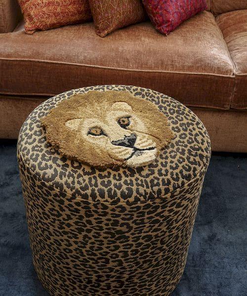 tapis tête de lion doing goods décoration murale chambre enfant
