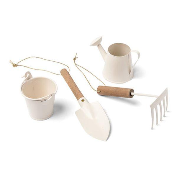 set 4 pièces du jardinier bois et ivoire table de pâques