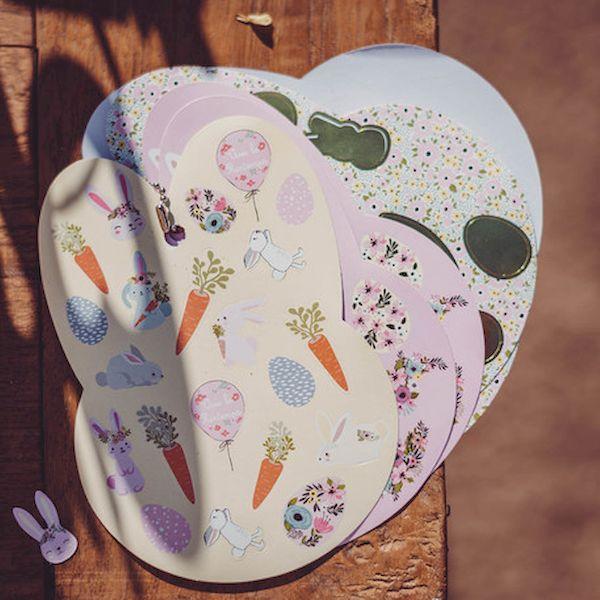 Carnet de stickers pâques lapinou dorure or cadeau enfant loisir créatif