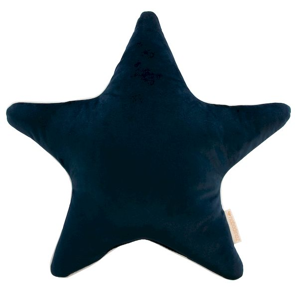 Coussin Aristote Star en velours - Night Blue - Nobodinoz coussin étoile bleu