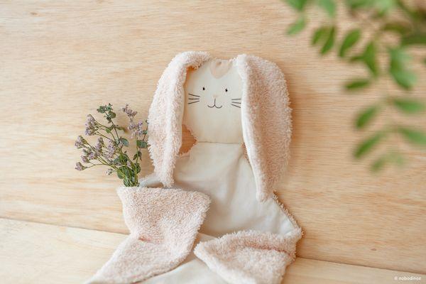 Doudou Bunny - Pink - Nobodinoz doudou lapin rose nobodinoz cadeau de naissance fille