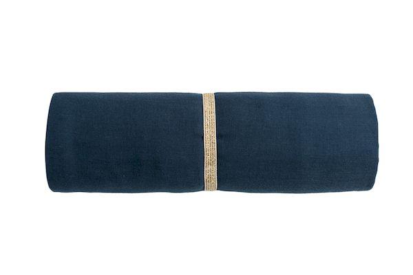 Lange butterfly 100x120 - Night Blue - Nobodinoz grand lange idée cadeau de naissance tendance
