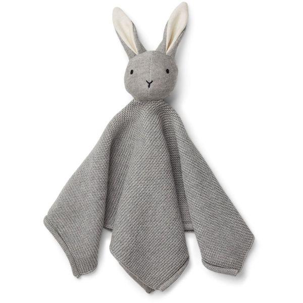 doudou lange lapin gris milo liewood coton bio cadeau de naissance