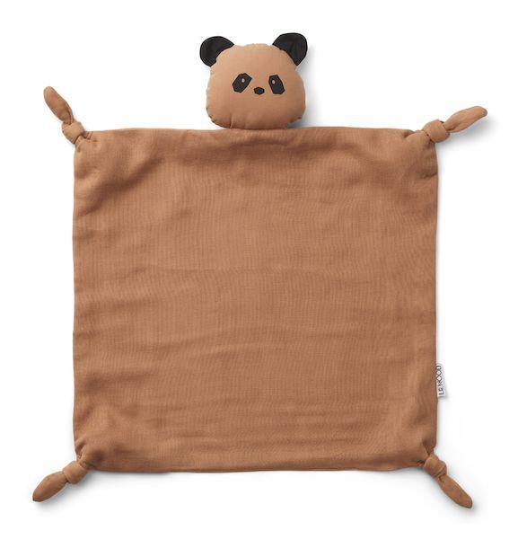 doudou lange panda agnete rose tuscany liewood doux coton bio cadeau de naissance