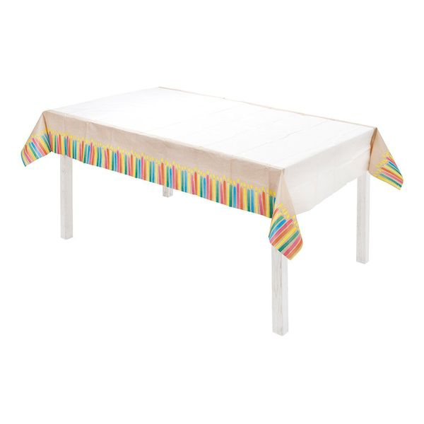 nappe kraft bougies multicolores éco responsable table d'anniversaire