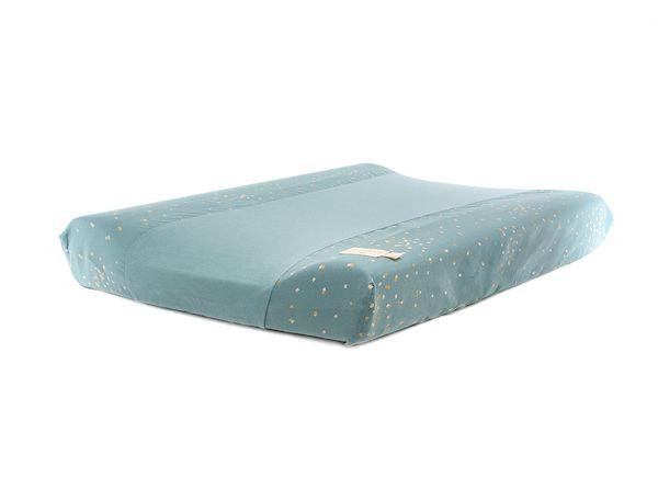 Matelas à langer imperméable Calma - Gold Confetti Magic Green 70x50x10 cm - Nobodinoz