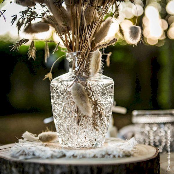 vase gravure ancienne carré bohème champêtre chic vintage déco de table