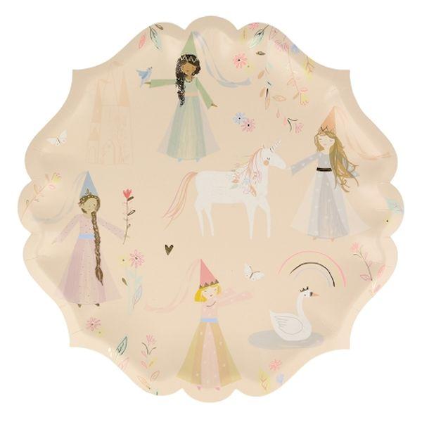 Assiettes Princesse fée x8 - Meri Meri anniversaire fée princesse licorne
