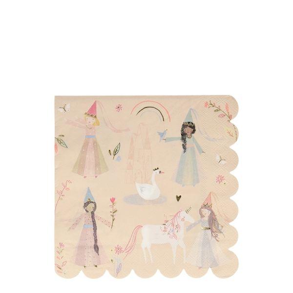 Grandes Serviettes Fées x16 - Meri Meri licorne anniversaire fille tendance