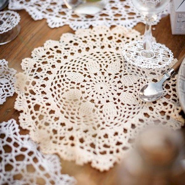 Napperon crochet Ivoire 30 cm x 1 - Arty fêtes factory décoration vintage boheme crealoca