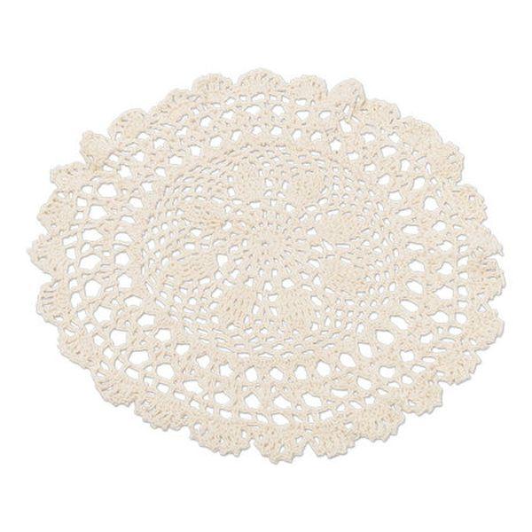 Napperon crochet Ivoire 30 cm x 1 - Arty fêtes factory décoration vintage boheme