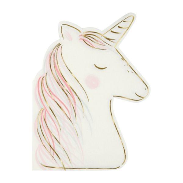 Grande Serviettes Licorne x16 - Meri Meri anniversaire licorne tendance