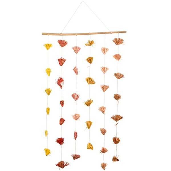 Suspension de bouquets colorés - Arty fêtes factory décoration fleurs séchés bohème tendance