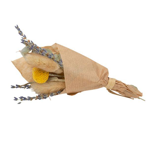 Mini bouquet de fleurs sechées colette 17 cm - Arty fêtes factory décoration champêtre bohème mariage