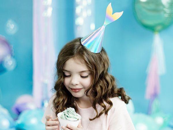 chapeau de fête sirène irisés anniversaire enfant accessoire déco