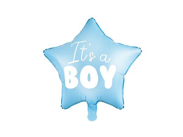"""ballon étoile """"it's a boy"""" bleu ciel naissance baptême baby shower gender reveal décoration bébé garçon"""