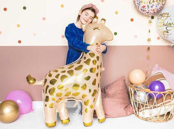 ballon girafe hélium décoration fête anniversaire jungle safari animaux