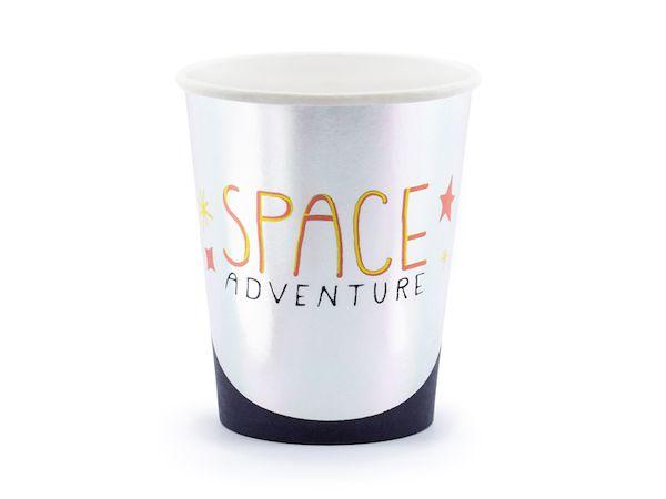 gobelets space party espace argent anniversaire décoration de fête vaisselle