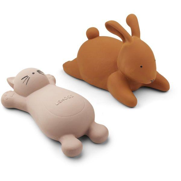 Set de 2 jouets de Bain Vikky Chat rose - Liewood idée cadeau bébé