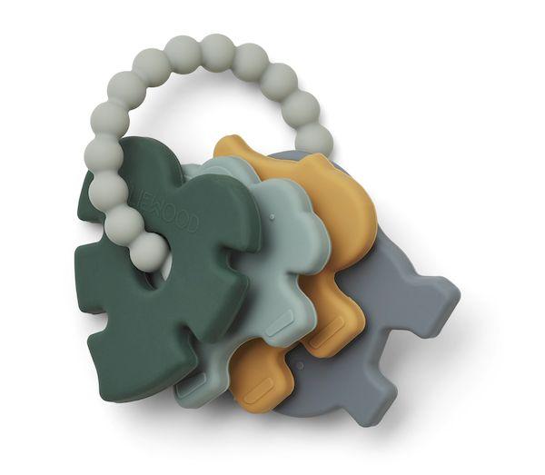 Hochet de dentition en silicone Penny - Blue multi mix - Liewood