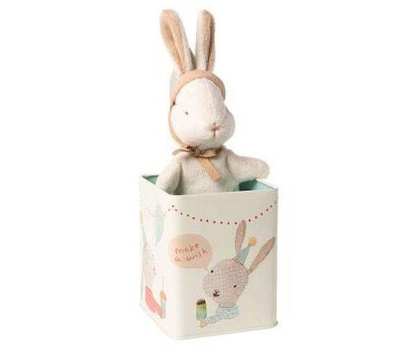 Lapin dans sa Boite Happy Day - Maileg idée cadeau paques cadeau de naissance doudou