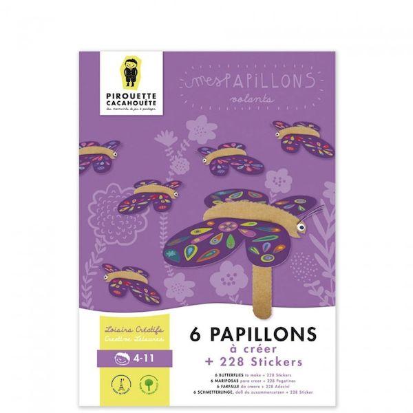 Kit loisir créatif - Mes Papillons Volants - Pirouette Cacahouète Activité créative enfant nature