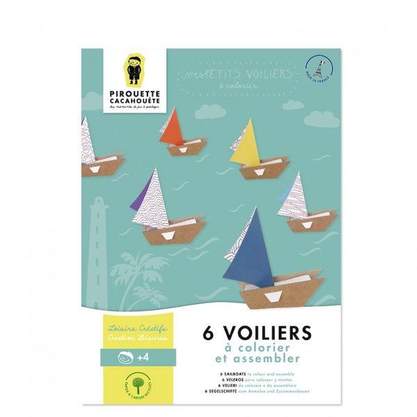 Kit loisir créatif - Mes Voiliers - Pirouette Cacahouète occupation enfant