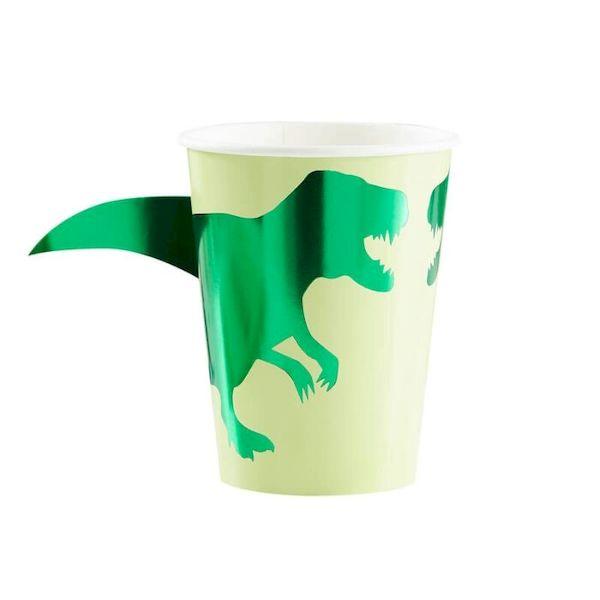Gobelets Dinosaure x8 - 25cl - Ginger Ray anniversaire dinosaure garçon