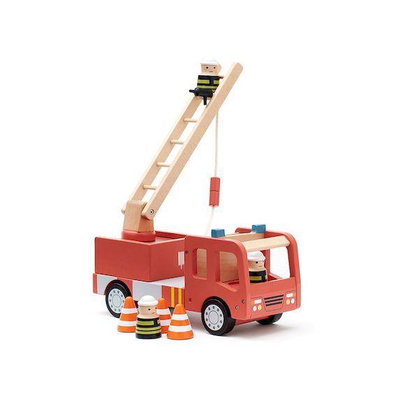 Camion de pompiers Aiden en bois - Kid's concept