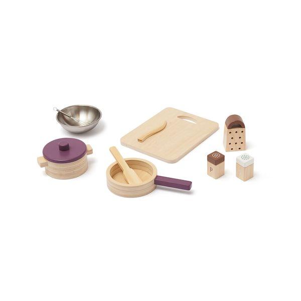 Set d'ustensiles de cuisine en bois Bistro - Kid's Concept