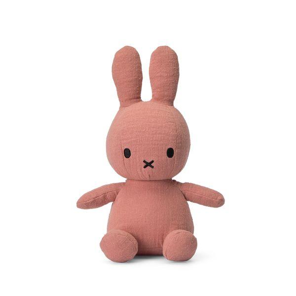 Lapin en mousseline rose 23 cm - Miffy