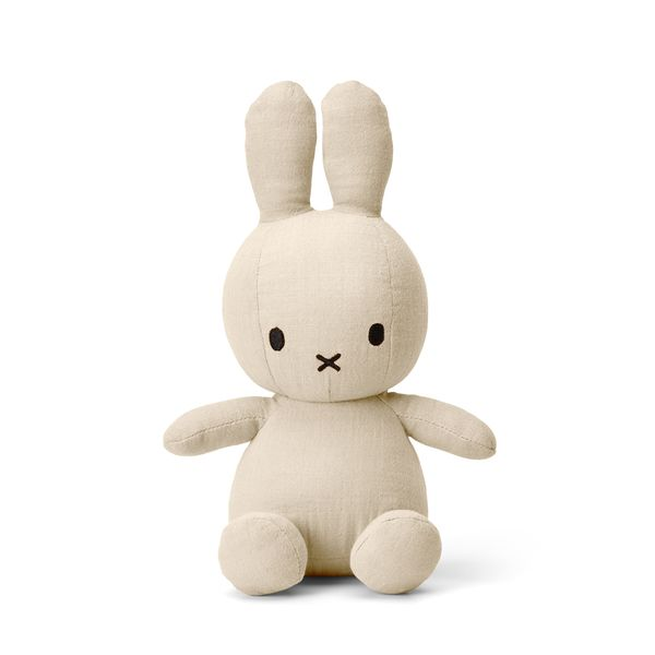 Lapin en mousseline crème 23 cm - Miffy