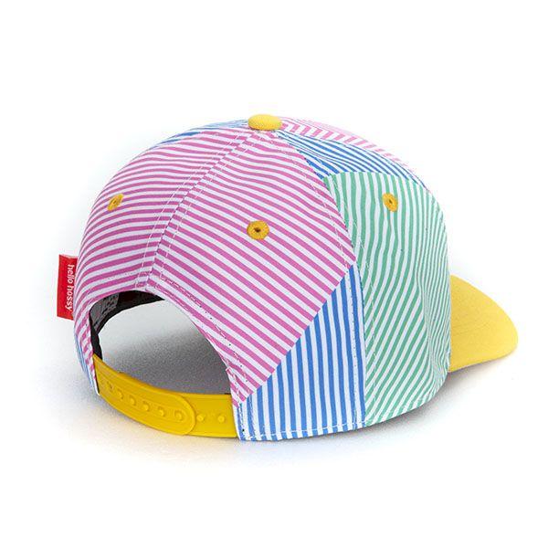 casquette hello hossy stripes enfant originale tendance cadeau