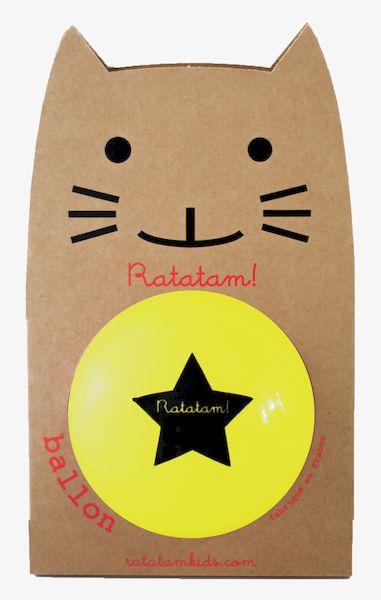 Ballon Jaune 22 cm - Ratatam!