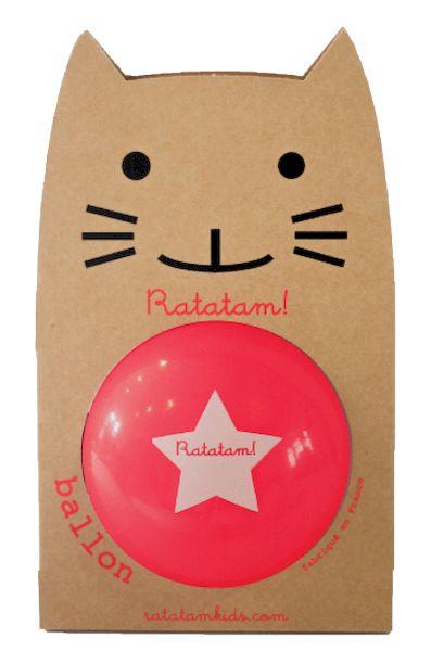 Ballon Rose fluo paillettes 22 cm - Ratatam!