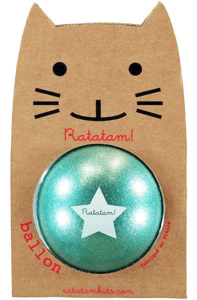 Ballon Vert Paillettes 15 cm - Ratatam Kids