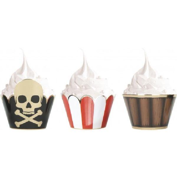 Caissettes pour cupcakes Pirate