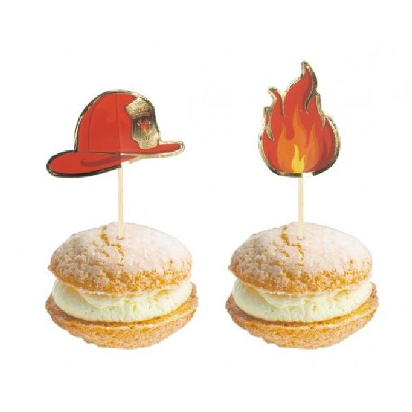Cake toppers Pompier x10