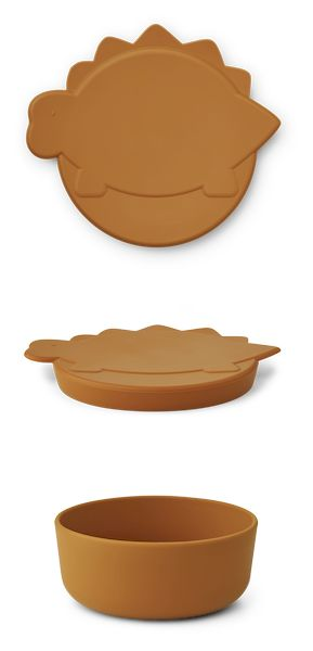 Boîte à goûter Cornelius - Dino Mustard - Liewood