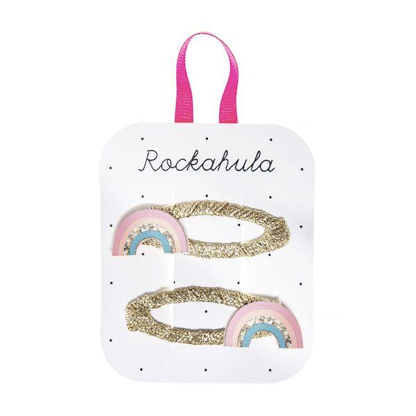 Barrettes Arc-en-ciel pailleté x2 Rockahula Kids accessoire fille