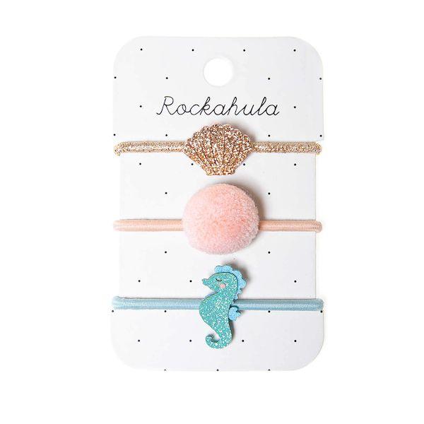 Elastiques Sylvia l'hippocampe pailleté x3 Rockahula Kids accessoire fille