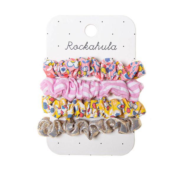 Mini chouchous Flower Power x4 Rockahula Kids accessoire fille
